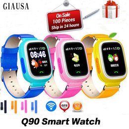 nuovi orologi intelligenti wifi Sconti I capretti di nuovo arrivo GPS Phone che posiziona i bambini di modo guardano a 1.22 pollici il touch screen a colori WIFI SOS l'orologio astuto PK Q80 Q50 Q60
