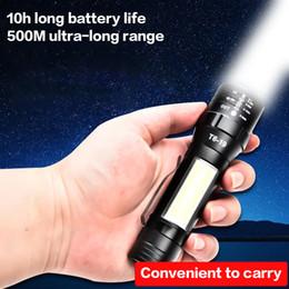 lanterna brilhante Desconto BRELONG lanterna de luz lado COB LED luz forte recarregável super brilhante lanterna pequena iluminação exterior de emergência