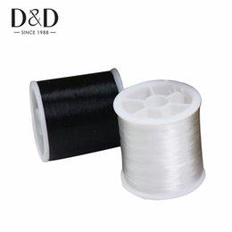 2019 corde di branelli in plastica DD 4pcs WhiteBlack Nylon Thread Plastic String Strap Corda fai da te Collana di perline Bracciale Creazione di accessori per cucire Accessori fai da te corde di branelli in plastica economici