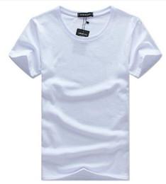T-shirts blancs vierges en Ligne-2018 t-shirt blanc coréen à manches courtes en coton coréen col rond manches moitié XL marée t-shirt blanc chemise à talons pour hommes livraison gratuite