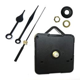 Pendule en Ligne-Kit de mouvement d'horloge à quartz bricolage Accessoires d'horloge noire Accessoires de mécanisme de broche avec poignées Accessoires pour horloge suspendue