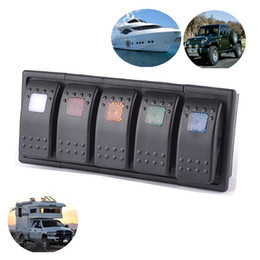 5 LED color Bar Rocker Switch panel ARB Carling Style Type 3 PINS DC 12V-  24V with clip holder