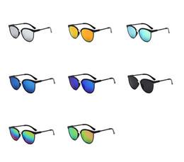 Marcas de gafas de sol de moda online-Nuevo Vintage Cat Eye Sunglasses Mujer diseñador de la marca Trendy Mirror Gafas de sol Mujer Gafas de sol Gafas