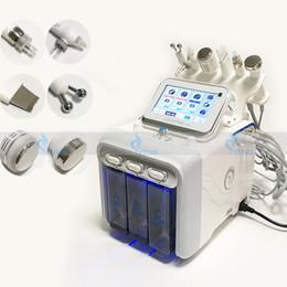6 in 1 Hydra Yüz Makinesi RF Cilt Gençleştirme Mikrodermabrazyon Hidro Dermabrazyon Kırışıklık Kaldırma Hydrafacial Spa Güzellik Ekipmanları cheap hydra facial equipment nereden hidra yüz için donatım tedarikçiler