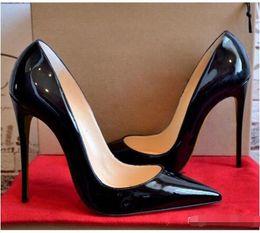 knöchelriemen geschlossene zehfersen Rabatt 2019 HEIßE Frauen Schuhe Rote Bottoms High Heels Sexy Spitze Spitze Rote Sohle 8 cm 10 cm 12 cm Pumps kommen mit Logo Staubbeutel