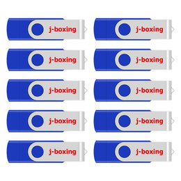 8gb usb-stöcke online-j_boxing Blau 10PCS 8GB OTG USB 2.0 Flash Drive Swivel USB-Sticks Memory Stick Pen Speicher für Computer-Android Smartphone Tablet Macbook
