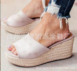 Koreanische high heels rosa online-2019 Female Summer Fashion Wear Koreanische Version der wasserdichten Plattform Slope mit Sandalen Thick Bottom High-Heels Muffin Bottom