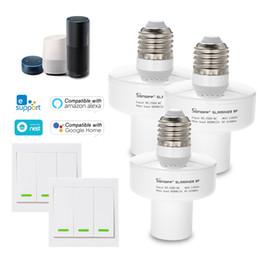 2019 supporto della lampada senza fili 3PCS SONOFF Slampher ITEAD Supporto per lampadina intelligente WiFi 433MHz RF E27 Supporto per lampada wireless compatibile con Amazon Alexa supporto della lampada senza fili economici
