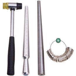 THGS 4 Takım Metal Mandrel Ile Yüzük Mandrel Sizer Aracı Parmak boyutlandırma Ölçme Sopa Bize 0-15 Ve Halka Sizer 27 Adet Ci Ölçer nereden