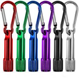 Chaveiro da tocha on-line-Mini lanterna LED liga de alumínio tocha com mosquetão chaveiros chaveiros esporte mini lanternas led atacado chaveiro chaveiro