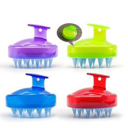 spazzole di fabbrica di bellezze Sconti Shampoo per adulti Spazzola Scrub Wash Capelli Pettine Massaggiatore in silicone Blue Green Comfort Strumenti di bellezza Vendite dirette in fabbrica 4xg C1