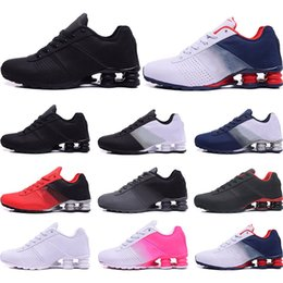 colorful tennis shoes Promo Codes - Designer Shoes R4 Nz Mens Running shoes black red gold blue white Pink colorful Wholesale Athletic Trainers Sports Sneakers size 40-46