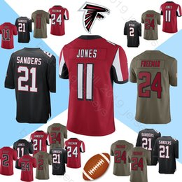 bc49eea2060 julio jones jerseys Promo Codes - Falcon jerseys 11 Julio Jones 21 Deion  Sanders Atlanta 24