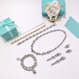 La migliore vendita di gioielli in acciaio inox stile neutro T di marca a forma di U catena di bambù spessa collana collana di amore per le donne regalo degli uomini supplier thick bamboo da bambù di spessore fornitori