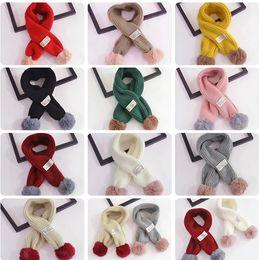 Canada Automne et Hiver chaud Croix-enfants Pure laine cou bébé écharpe garçons et filles mignon balle écharpe Offre