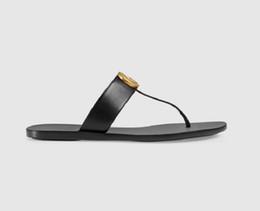 Sandalias de mujer online-2019 sandalias de diseño mujer hombre sandalias diapositivas del diseñador Marca Moda sandalias de rayas causales huaraches zapatillas chanclas chanclas 35-46