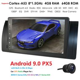 android honda crv Desconto IPS DSP 1DIN Android 9.0 Radio Car NO DVD player para X5 E53 E39 Série 5 multimedia GPS estéreo de navegação DVD Audio auto-rádio do carro