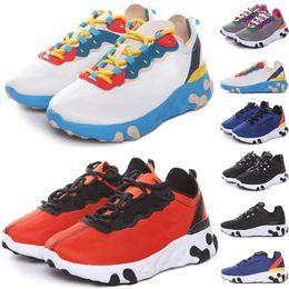 Sapatos de mulheres atléticas 35 on-line-Nike Epic React Element 87 Undercover Fashio off Marca crianças homens plataforma mulheres sapatos de grife mens formadores athletic branco sneakers casuais REPETIR Elemento 87