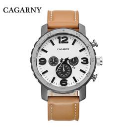 Japão movt relógio on-line-Casual Relógios de Quartzo Homens Relógios Japão Movt Pulseira de Couro Relógio Militar Relogio masculino Esportes Relógios de Pulso De Quartzo-Relógio