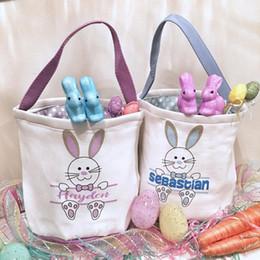 decorazioni personalizzate di cupcake Sconti Veloce insacca il trasporto del cestino di Pasqua Monogram Canvas Benne personalizzati Easter Bunny regalo Bunny Tail Borsa 8 stili Mix