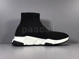 Plataforma barato Speed Trainer para mujer para hombre del calcetín Zapatos Negro Blanco Hombres rojo de las mujeres de calidad superior zapatillas de deporte de moda de lujo de diseño de los zapatos ocasionales desde fabricantes