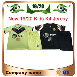 Futbol club america breve online-19/20 Club de Futbol America Kid Kit 2019 Messico Club Away Child Jersey da calcio Short Top Quality Ragazzi Calcio Camicie Pantaloni