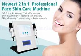 Equipo de chorro de agua online-Equipo portátil del salón de belleza de la máquina facial de RF de la máquina de la limpieza de la oxigenación del ultrasonido del agua del ultrasonido del RF del oxígeno del oxígeno con el estiramiento facial del RF