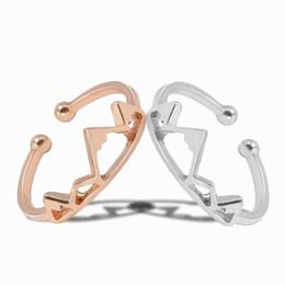 Garota de roupas abertas on-line-anel Roupas e Acessórios Jóias Simples Moda de prata do casamento Mulheres Partido criativa Abrir Montanha Adjustable Rings menina de