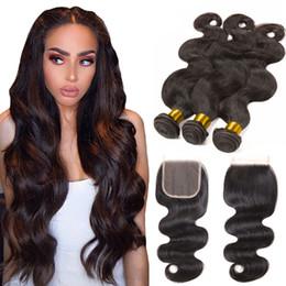 3 paquetes de Brasil la onda del cuerpo con el encierro dibujada doble pelo de la Virgen Negro Natural Mink brasileña al por mayor de Extensiones de cabello barato desde fabricantes