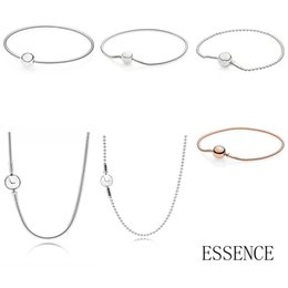 essence bracelet Promo Codes - NEW Top Quality 100% 925 Sterling Silver Essence Series Bracelet Suitable For Women Original Charm Fit Diy Necklace Bead Chain
