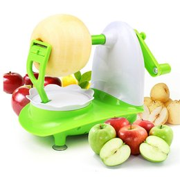 Deutschland Kunststoff-Apfelschäler Halbautomatische Fruchtschnellschäler Grüne handbetriebene Apfelschälmaschinen Neue Ankunft 9 8ch L1 cheap plastic fruit green apples Versorgung
