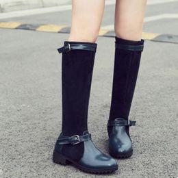 au-dessus des bottes au genou Promotion Bottes pour dames de mode automne et hiver étirement sur les genoux, plus la taille Au-dessus du genou Bottes de confort élégantes dropshipping # 30