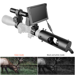 Caça câmeras on-line-Night Vision Riflescope Caça Scopes Óptica Visão Tactical 850nm Infrared LED IR Waterproof Night Vision Camera Hunting Dispositivo