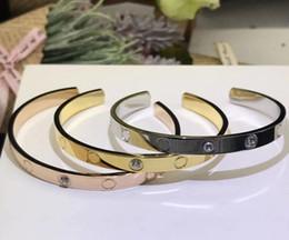2019 chaîne bracelet en diamant Bracelet amour acier titane Bracelet en argent or rose Bracelet femme Bijoux