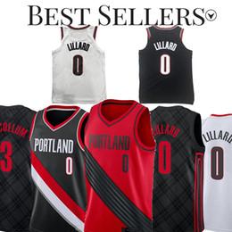 367e82919 Damian 0 Lillard Blazer Jerseys CJ 3 McCollum Embroidery Basketball Logos  Basketball 100% Stitched Jersey