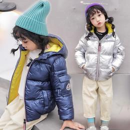 Argentina Los niños de la chaqueta de invierno para los niños niñas collar de oro rosa Niños Casual capa encapuchada Ropa de bebé Outwear niños Parka Chaqueta Traje para la nieve Suministro