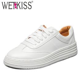 suole spesse scarpe da ginnastica bianche Sconti wetkiss Spring Sneakers  Casual Flats Donna Round Toe Calzature 2f72ca8909e