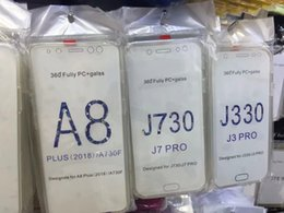 caso duro samsung a7 Rebajas Funda de TPU suave de 360 grados para PC + Soft para Galaxy J4 A6 A6 A6 A6 A7 A7 A7 A750 A7 J330 2018 Cristal de cobertura de cuerpo completo Cubierta de doble cara 2 en 1