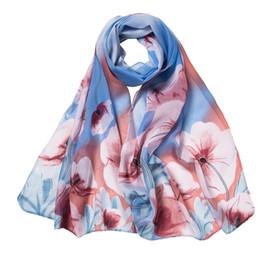 Femmes foulards en mousseline de soie impression de fleurs douce longue écharpe foulard 2018 dames foulards châle ? partir de fabricateur
