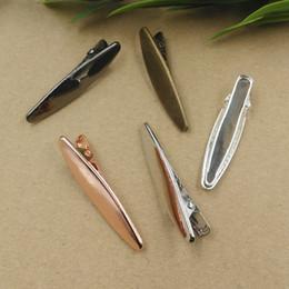 Cabelo antigo on-line-50 pcs 50 MM pinças francesas pin jacaré clips hairpin vintage hairclip de prata em ouro rosa antigo grampo de cabelo bronze hairwear jóias