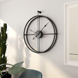 Relógios de parede silenciosos on-line-Frete grátis 55 cm Grande Relógio De Parede Silencioso Design Moderno Relógios Para Home Decor Escritório Estilo Europeu Pendurado Relógio de Parede Relógios