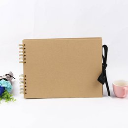 40 Seiten Kraftpapier Fotoalbum DIY handgemachte Geburtstagsgeschenke Valentinstag Geschenke Hochzeit Gästebuch Travel Memory Book Album von Fabrikanten