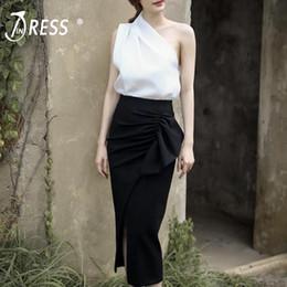 29327bbf3 Distribuidores de descuento Faldas De Spandex Cortas Blancas ...