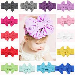 2019 asiatische baby Baby Kind Mädchen Großen Bogen Stirnband Mode Turban Band Zubehör Bowknot Haarband Hohe Qualität LLA38 günstig asiatische baby