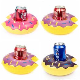 aufblasbare bäume Rabatt Schwimmende aufblasbare Spielzeuge Getränkehalter Getränkeparty Donut PVC Wassermelone Zitrone Kokosnuss E-Friendly Baum Ananas geformt Pool Spielzeug LT475