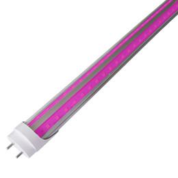 lastro de luz led Desconto LED G13 V em forma de T8, LED cresce Tubo Luz para Jardim, hidropónica, e Greenhouse, UVA Sun Rosa Branco Full Spectrum, por Ballast passagem
