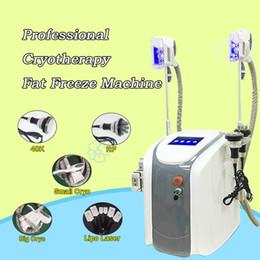 crio laser Rebajas Zeltiq Cryolipolysis Máquina de congelación de grasa Cintura que adelgaza Cavitación Máquina RF Lipo Laser 2 Las cabezas Cryo pueden funcionar al mismo tiempo CE / DHL