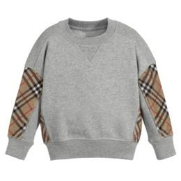 Camisolas do miúdo on-line-2019 Novos Meninos Do Bebê xadrez camisola crianças malha treliça manga comprida pulôver ocasional crianças jumper de algodão designer de roupas infantis