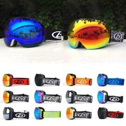 9b6c40f4528 Ski Equipment Ski Goggles Adult Double Anti-Fog Anti-Uv Spherical Glasses  anti far deals