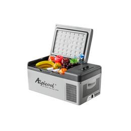 Affichage numérique 12v en Ligne-15L 12 / 24V - 110V C15 Portable APP contrôle mini voiture réfrigérateur congélateur affichage numérique voiture Mini réfrigérateur réfrigérateurs
